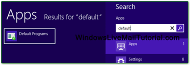 Set default programs in Windows 8