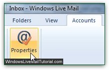 Access properties of single email account