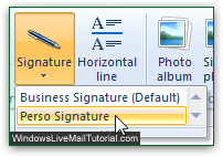 Add signature to Windows Live Mail