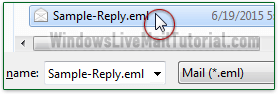 Automatically send a reply from Windows Live Mail