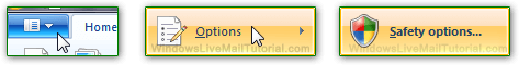 Configure Windows Live Mail safety options