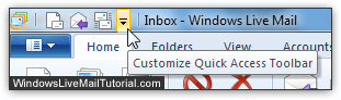 Customize the quick access toolbar