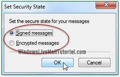 Filter out signed or secure messages