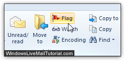 Flag several emails at the same time