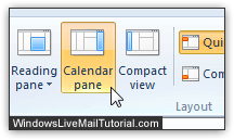 Hide Windows Live Mail's mini calendar