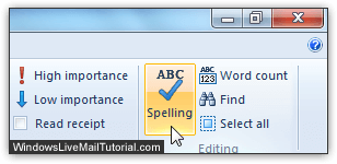 Manually spell-check your email