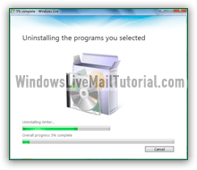 Uninstall Windows Live Mail from Windows 7 / 8 / 10 / Vista