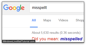 Use Google to double-check your spelling!